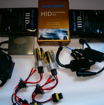 Комплект ксенона BlueLight AC Canbus (с обманкой) 12V 35W. Цоколь: H1, H3, H7, H11, H27, HB3, HB4.