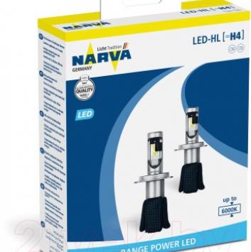 Комплект автомобильных ламп Narva H4