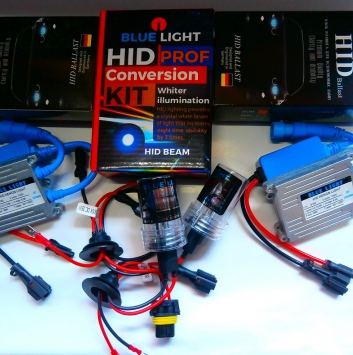 Комплект ксенона BlueLight DC 12V 35W. Цоколь: H1, H3, H7, H11, H27, HB3, HB4, H15.