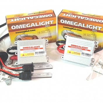 Комплект ксенона OmegaLight DC Slim 12V 35W. Цоколь: H1, H3, H7, H11, H27, HB3, HB4.